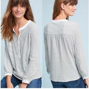 Dolan Anthropologie Ferry Henley Knit Top